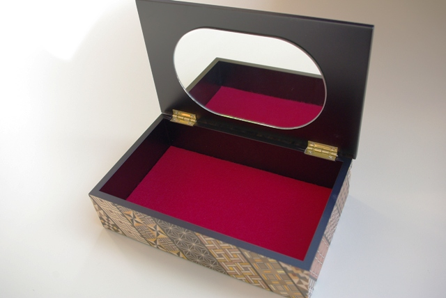 小物入れ(7寸)小寄木模様 1箱